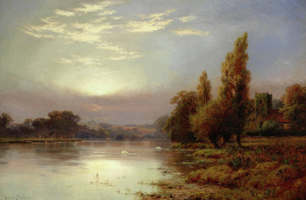 Wall Art - Painting - Wargrave At Sunrise by Alfred de Breanski