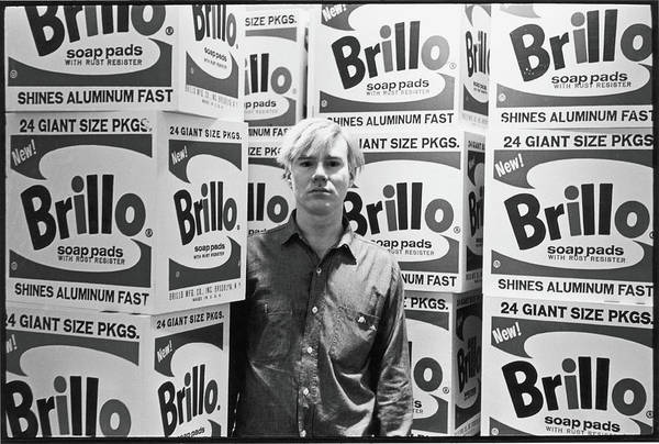 Standing Photograph - Warhol & Brillo Boxes At Stable Gallery by Fred W. McDarrah