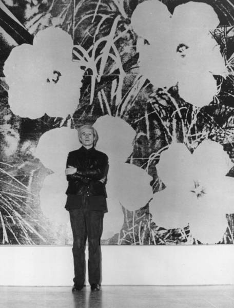 Warhol Photograph - Warhols Flowers by Evening Standard