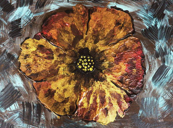 Wall Art - Photograph - Warm Fall Flower In Bronze by Iris Richardson