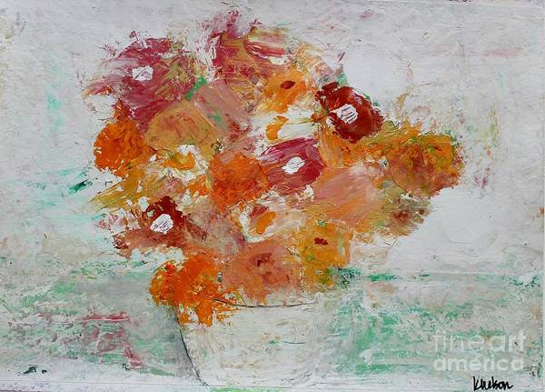 Painting - Warm Floral by Kim Nelson