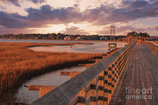 Photograph - Warm Marsh Bay Sunrise by Dale Powell