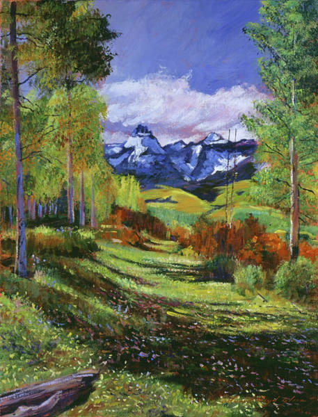 Painting - Warm Mountain Valley by David Lloyd Glover