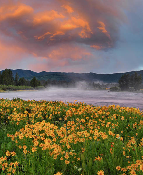 Photograph - Warm River Sunset by Leland D Howard