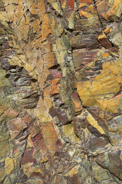 Photograph - Warm Toned Rock Abstract by Alexander Kunz