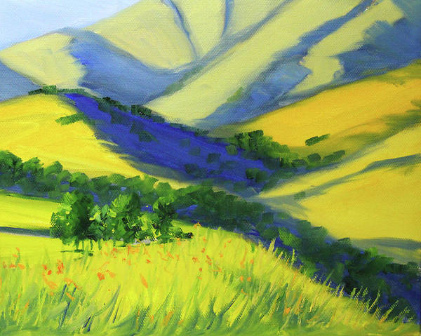 Wall Art - Painting - Warm Valley Landscape by Nancy Merkle