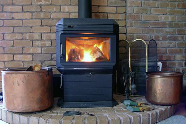 Metal Bucket Photograph - Warm Winter Fire by Acerebel