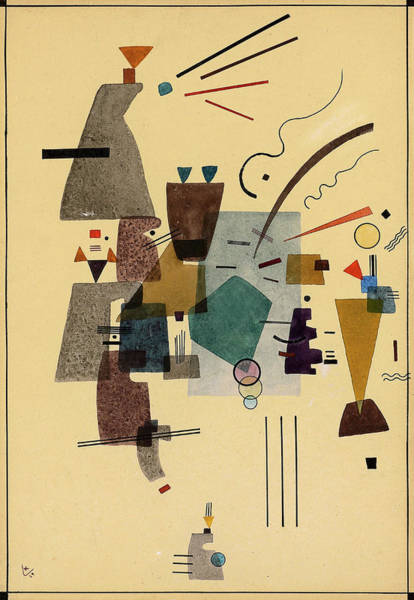Wall Art - Painting - Warmed Cool, 1924 by Wassily Kandinsky
