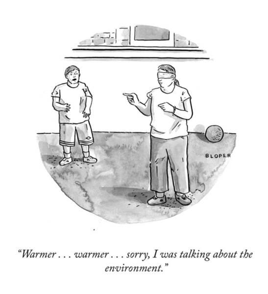 Global Warming Drawing - Warmer Warmer by Brendan Loper