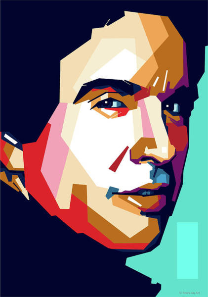 Wall Art - Digital Art - Warren Beatty by Stars-on- Art