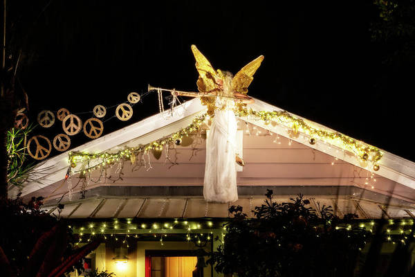 Photograph - Warrior Angel Glowing In Key West by Kay Brewer