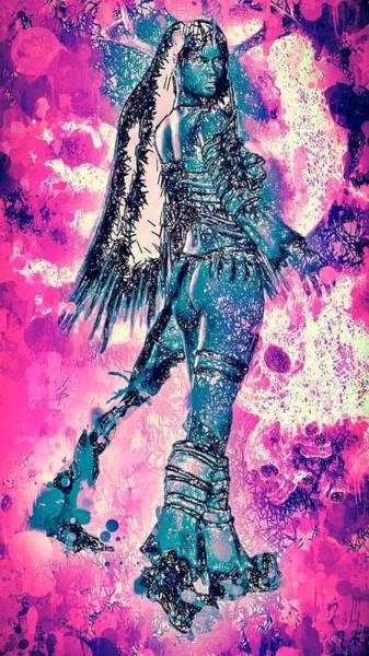Mixed Media - Warrior Women by Matra Art