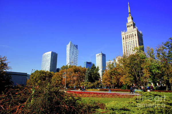 Wall Art - Photograph - Warsaw Buildings  by Tom Gowanlock