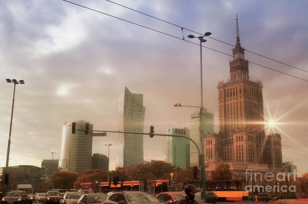 Wall Art - Photograph - Warsaw City Buildings by Tom Gowanlock