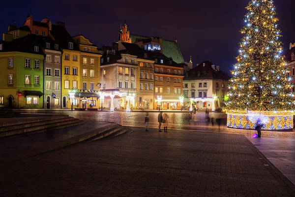 Wall Art - Photograph - Warsaw Old Town Square During Christmas Time by Artur Bogacki