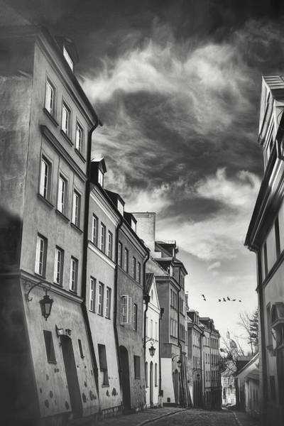 Wall Art - Photograph - Warsaw Poland Old World Charm Black And White by Carol Japp