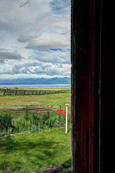 Photograph - Wasatch From The Doorway by Jerry Sodorff