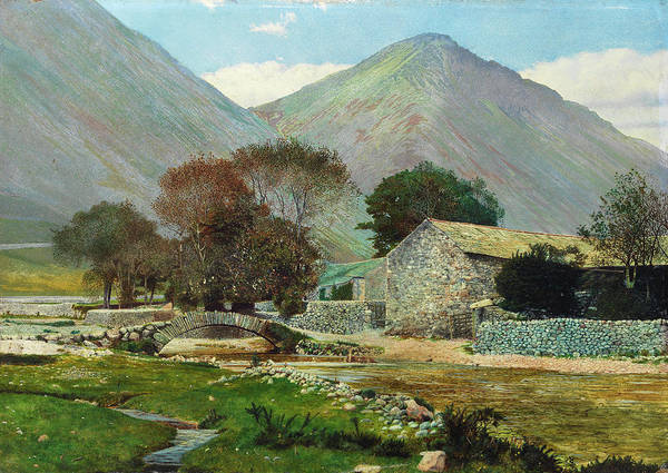 Lake District Painting - Wasdale Head With Great Gable In The Distance by John Atkinson Grimshaw