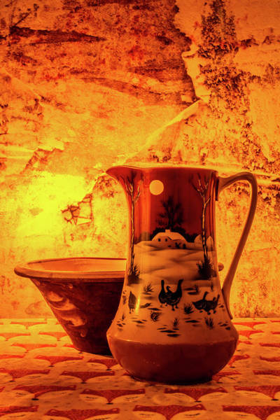 Photograph - Wash Bowl And Pitcher by Steve Purnell