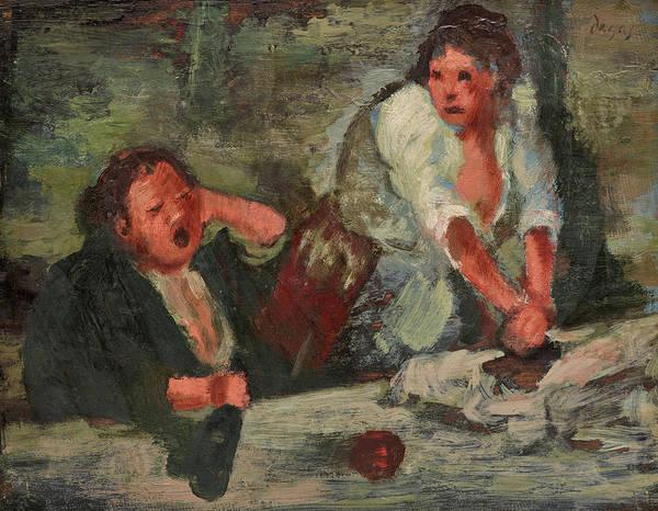 Wall Art - Painting - Wash Women by Edgar Degas