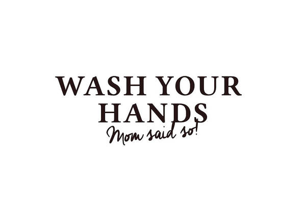 Photograph - Wash Your Hands #humor #minimalism by Andrea Anderegg