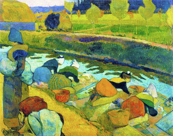 Wall Art - Painting - Washerwomen - Digital Remastered Edition by Paul Gauguin