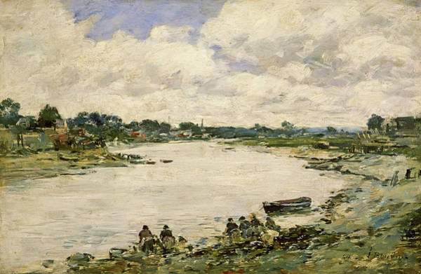Wall Art - Painting - Washerwomen On The Banks Of The Touquesi, 1894 by Eugene Louis Boudin