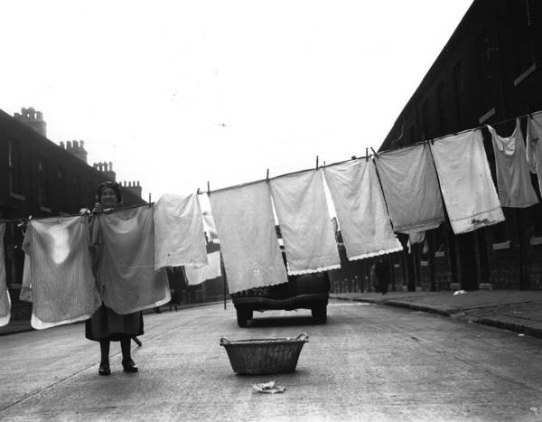 Out Of Context Photograph - Washing Day by Fox Photos