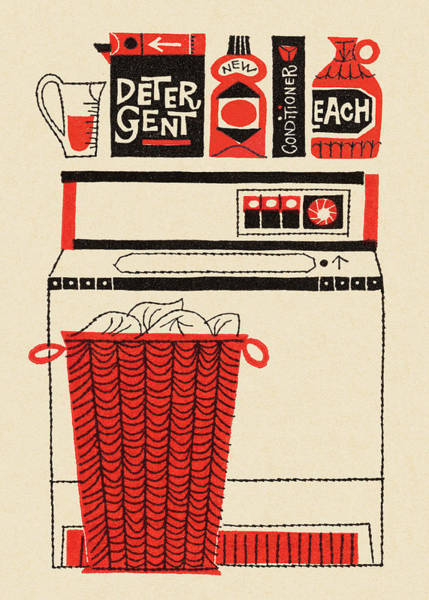 Domestic Digital Art - Washing Machine, Laundry And Soap by Csa Images