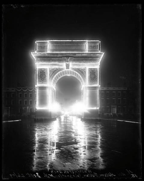 Washington Square Park Photograph - Washington Arch by The New York Historical Society