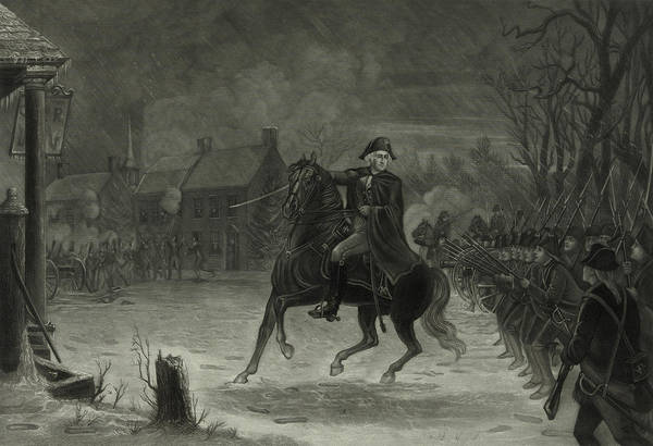 Wall Art - Painting - Washington At The Battle Of Trenton by American School
