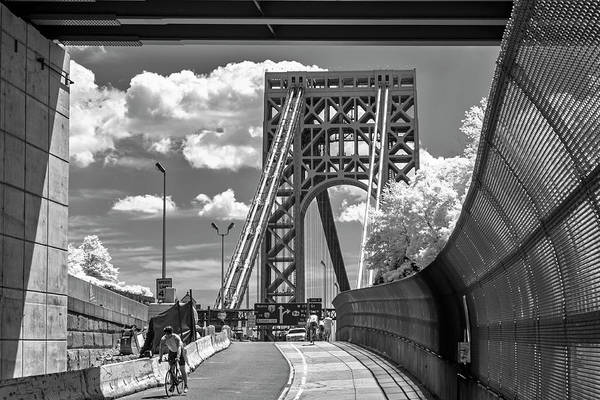 Photograph - Washington Bridge Nyc Gwb by Susan Candelario