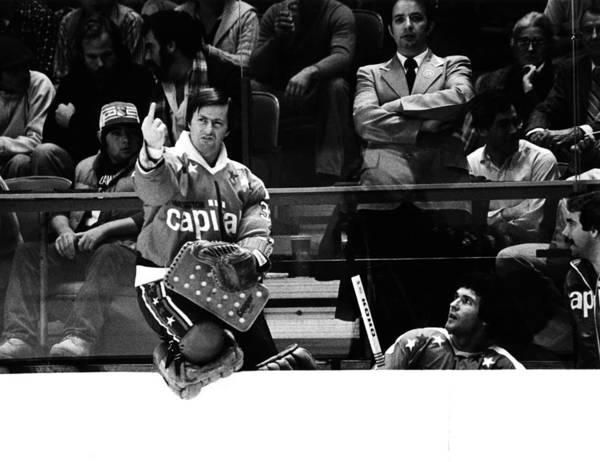 Gesturing Photograph - Washington Capitals V New York Rangers by B Bennett
