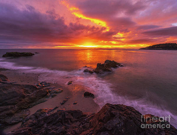 Wall Art - Photograph - Washington Coast Sunset Serene Evening by Mike Reid