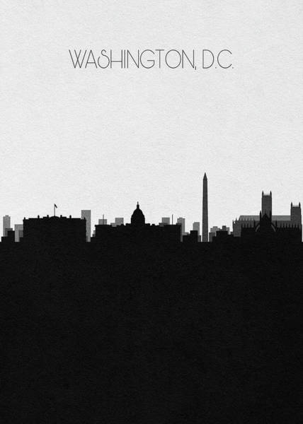Capitol Digital Art - Washington, D.c. Cityscape Art by Inspirowl Design