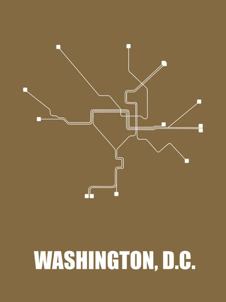 Wall Art - Digital Art - Washington, D.c. Subway Map 2 by Naxart Studio