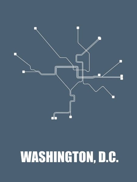 Wall Art - Digital Art - Washington, D.c Subway Map by Naxart Studio