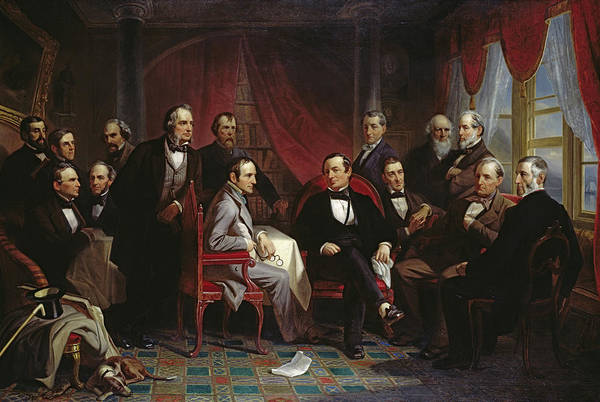 Wall Art - Painting - Washington Irving And His Literary Friends At Sunnyside, 1864 by Christian Schussele