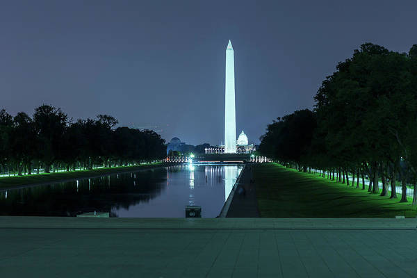 Photograph - Washington Monument And The Capitol Building by Belinda Greb