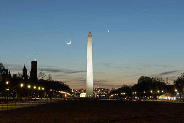 Photograph - Washington Monument At Night by Marvin Bowser