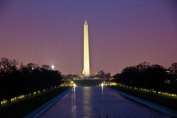 Photograph - Washington Monument At Sunset by Fred DeSousa