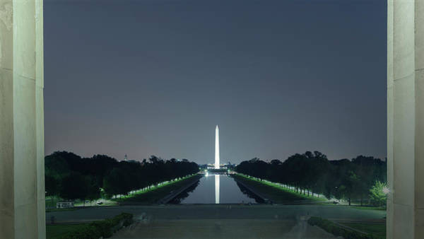 Photograph - Washington Monument From Lincoln Memorial No. 2 by Belinda Greb