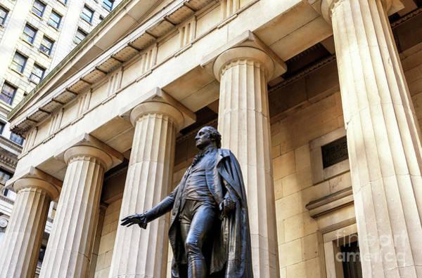Washington Street Photograph - Washington On Wall Street New York City by John Rizzuto