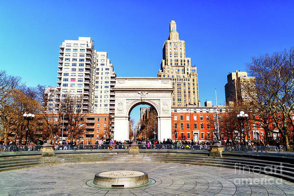 Wall Art - Photograph - Washington Square Days In New York City by John Rizzuto