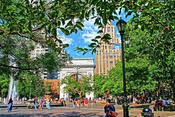 Wall Art - Photograph - Washington Square, Manhattan, New York by Zal Latzkovich