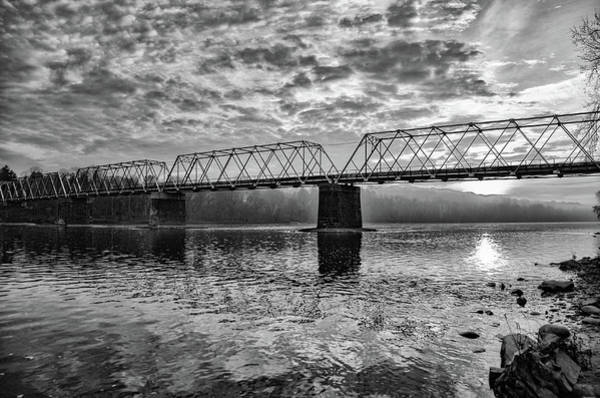 Wall Art - Photograph - Washington's Crossing Bridge In Black And White by Bill Cannon