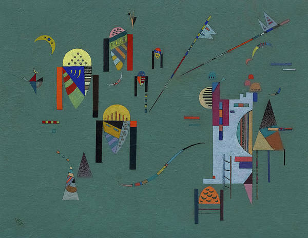 Vertical Line Wall Art - Painting - Vertical Accents - Accents Verticaux  by Wassily Kandinsky