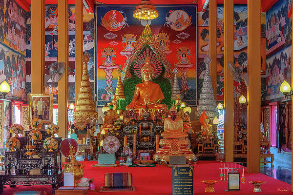 Photograph - Wat Liab Phra Ubosot Buddha Images Dthu0748 by Gerry Gantt