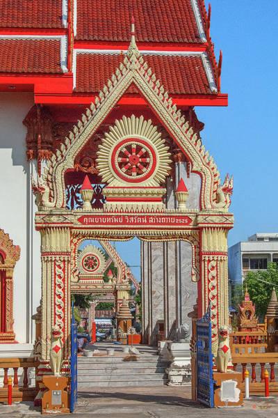Photograph - Wat Liab Ubosot Gateway Dthu039 by Gerry Gantt