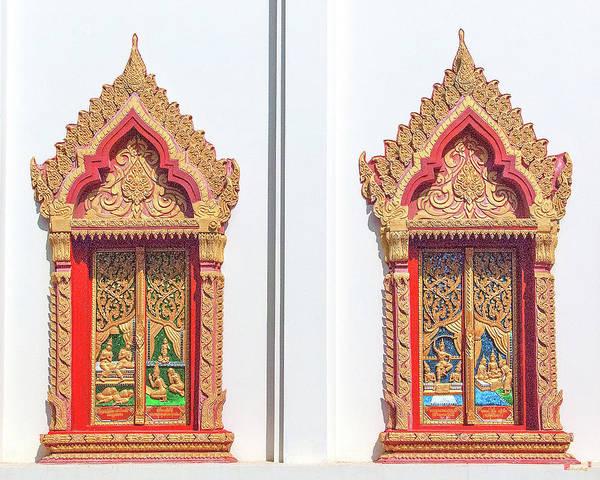 Photograph - Wat Liab Ubosot Windows Dthu040 by Gerry Gantt
